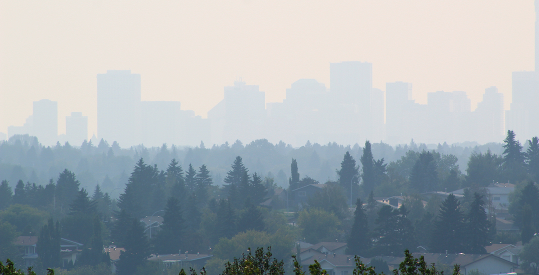 Wildfire smoke from Saskatchewan prompts special air quality alert for Edmonton