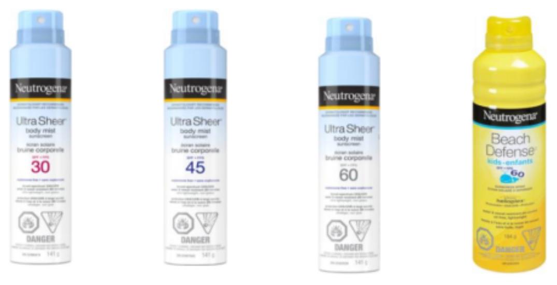 Neutrogena aerosol sunscreens recalled over traces of carcinogen