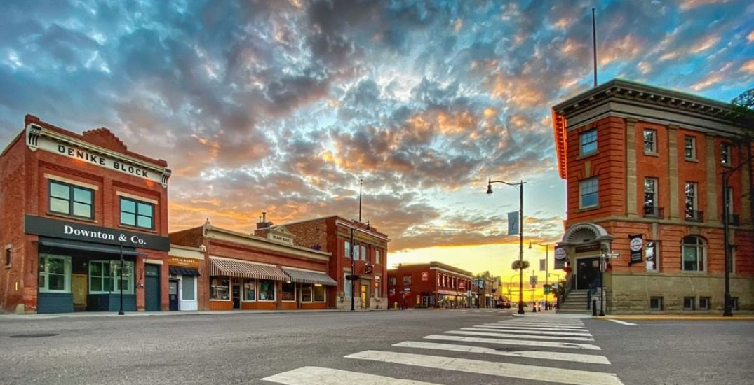 Lacombe's adorable main strip is a must visit just outside of Edmonton