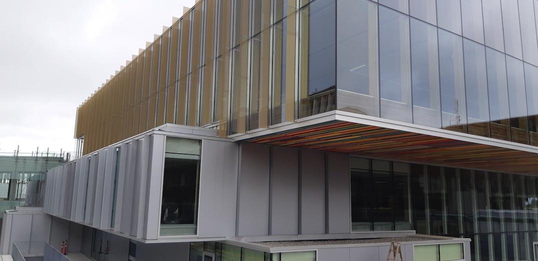 sfu student union building construction september 2020