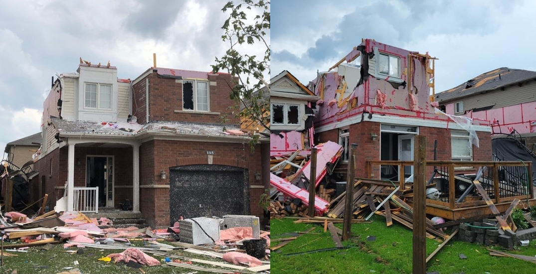 Woman discovers roof torn off house by tornado in Barrie (VIDEOS)