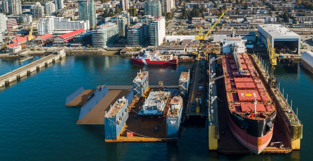 Seaspan proposing to build two additional drydocks next to Lonsdale's Shipyards district