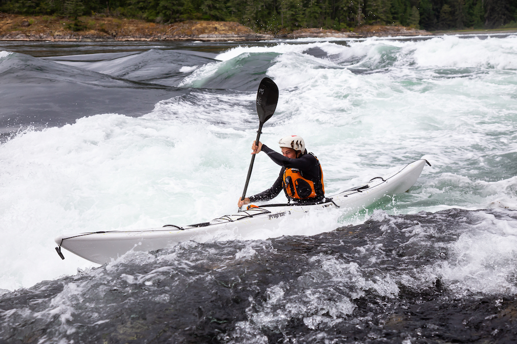 Kayaking in Skookumchuck Narrows