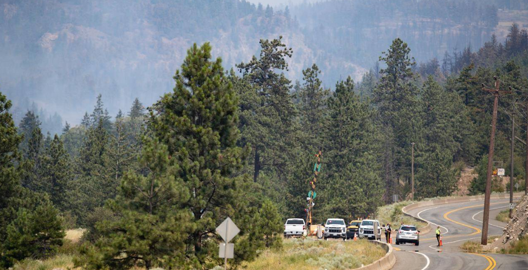 People asked not to travel to areas under wildfire evacuation