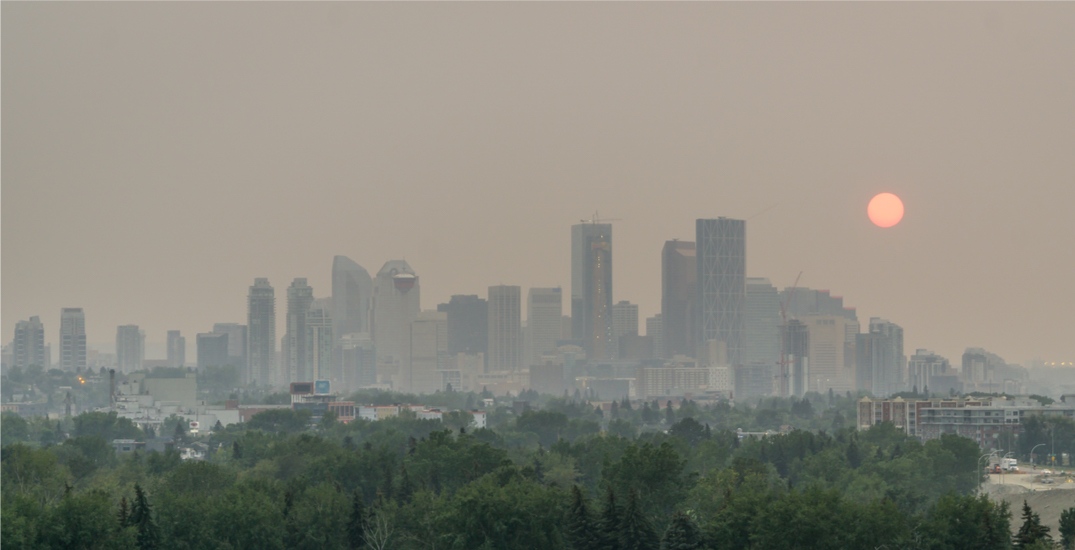 """""""High risk"""" air quality statement in effect for Calgary due to wildfire smoke"""