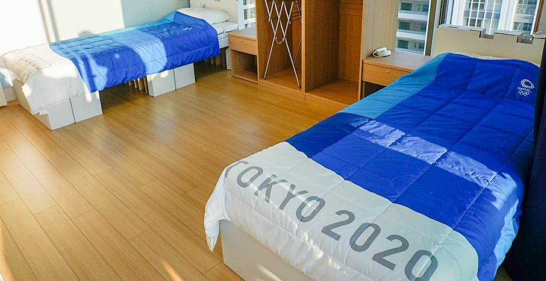 """Olympic athletes not sleeping on """"anti-sex"""" beds in Tokyo as internet claims"""