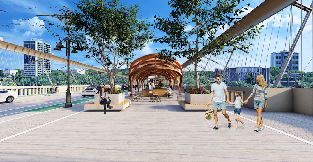 Bloor Viaduct could get pedestrian promenade, greenery, and market stalls