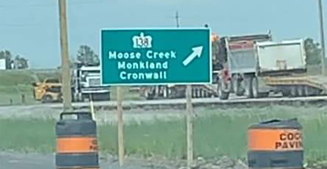 """""""Errors can occur"""": Misspelled highway sign for Cornwall elicits laughs online"""