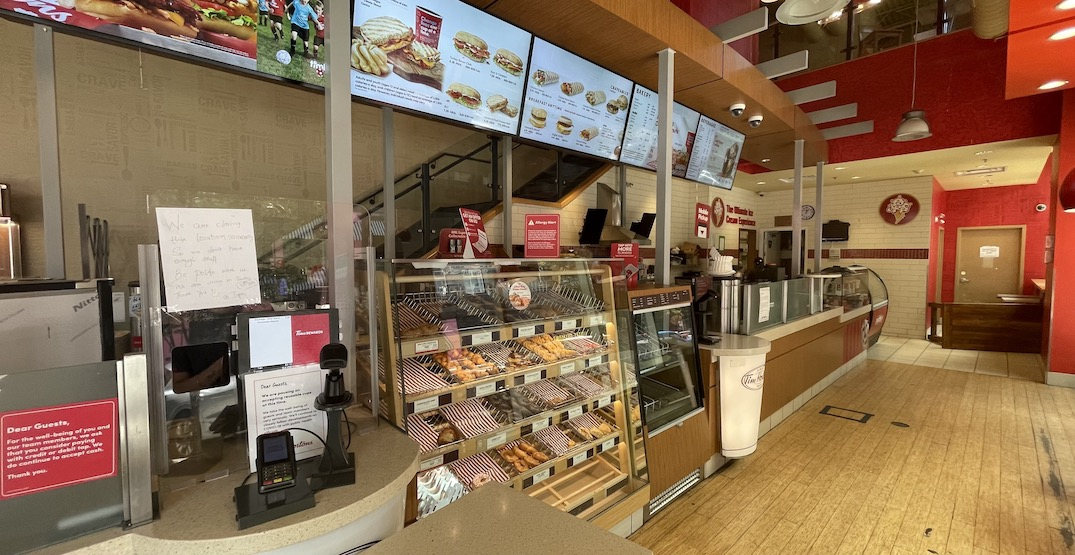 Downtown Vancouver's two-storey Tim Hortons is permanently closing