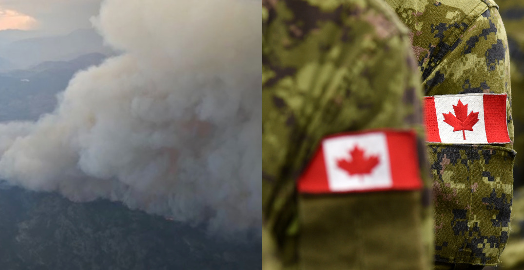 Feds sending hundreds of armed forces members to fight BC wildfires
