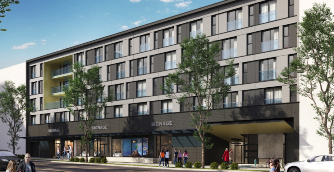 Construction begins on mass timber rental housing building next to future SkyTrain station