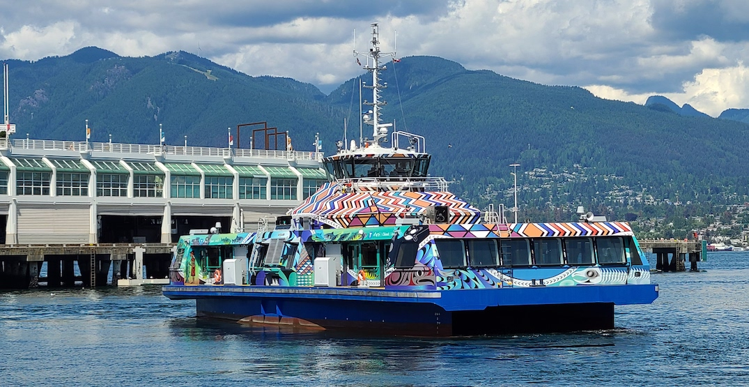 TransLink's new SeaBus vessel, blanketed by First Nations art, now in service (PHOTOS, VIDEO)