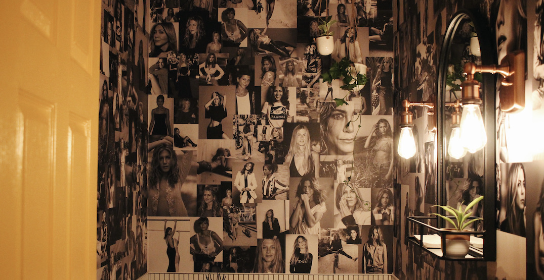 Loula's Taverna & Bar has a Jennifer Aniston-themed bathroom