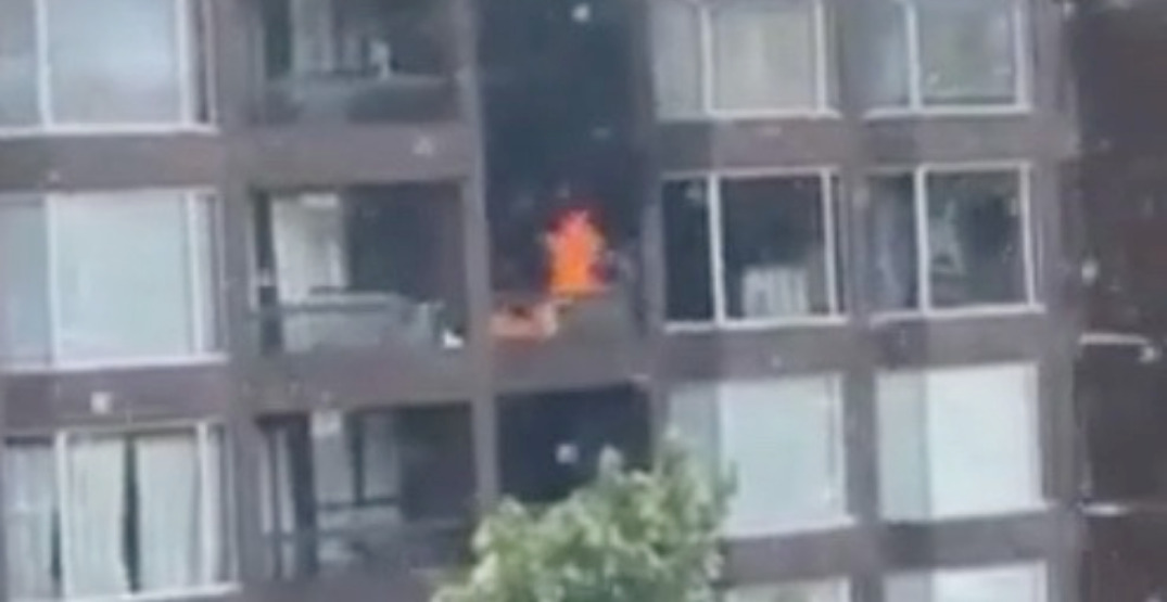 Man dies while attempting to escape fire in downtown Vancouver highrise