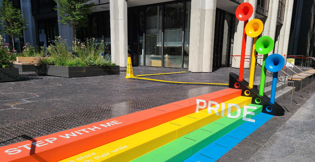 Vancouver Pride-themed musical art installation encourages you to play