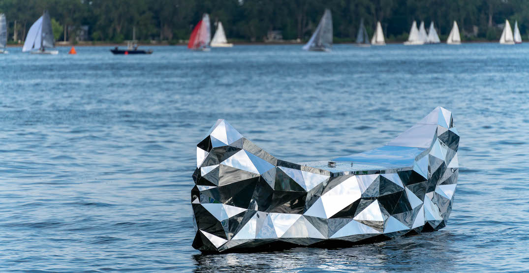 Mirrored canoe art piece now floating in Toronto's waterfront (PHOTOS)