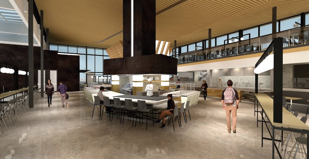 Massive dining commons at SFU Burnaby campus to open in new school year