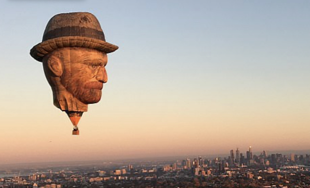 A 91-foot Van Gogh head will be hovering around Toronto this week