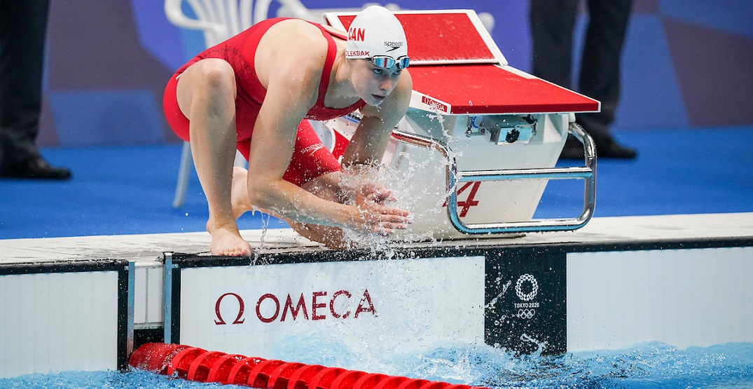 Penny Oleksiak sets record, but comes fourth in 100m freestyle Olympic race