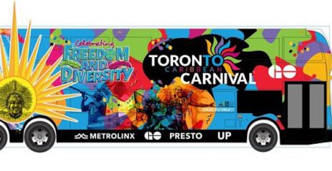 You can soon ride around Toronto on a Carnival-themed GO bus