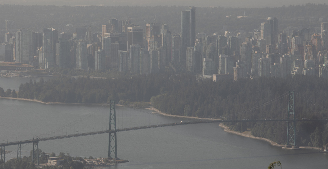 Air quality advisory issued for Metro Vancouver and Fraser Valley