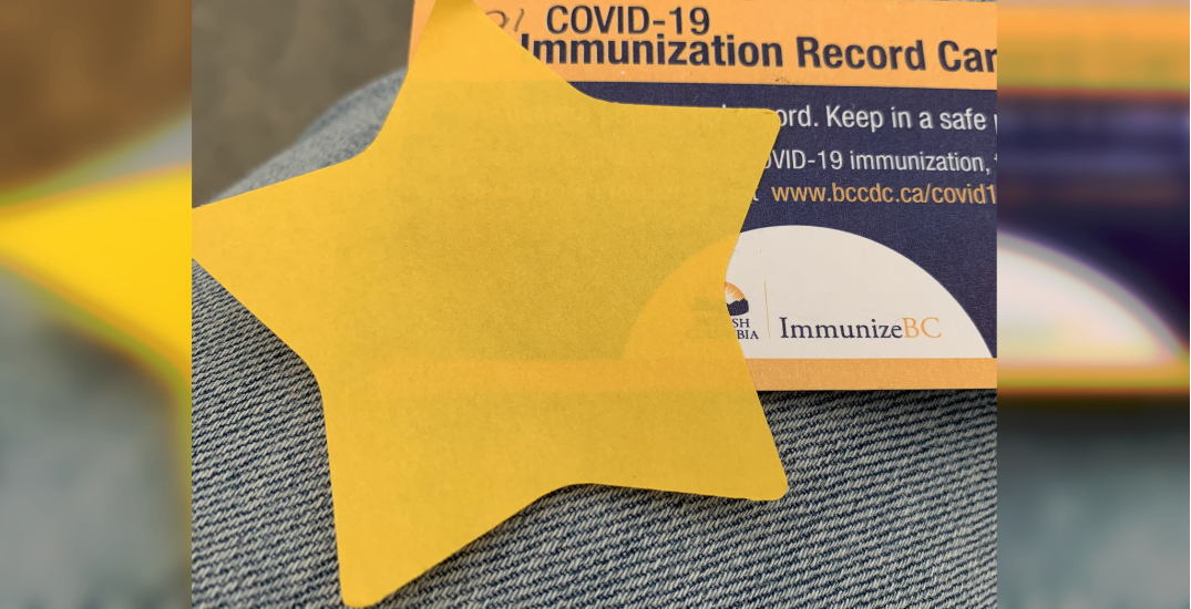 VCH apologizes after yellow star handed out at COVID-19 vaccine clinic