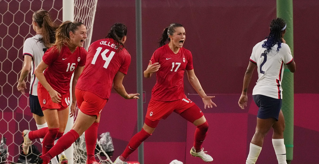 Canada tops USA with late penalty to head to Olympic soccer final