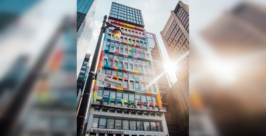 Check out Montreal's newest rainbow-coloured building (PHOTOS)