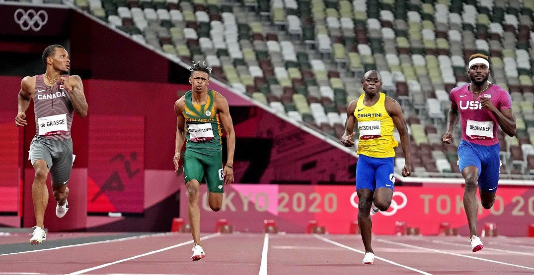 De Grasse, Brown in 200m final after winning their semifinals at Tokyo Olympics