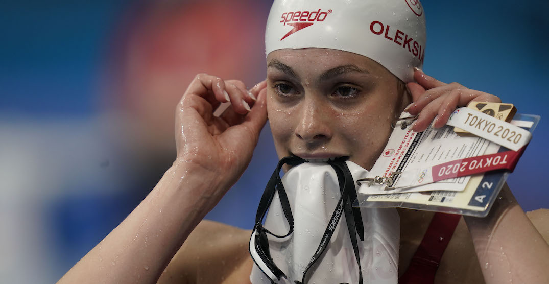 Penny Oleksiak throws shade at teacher that told her to stop swimming