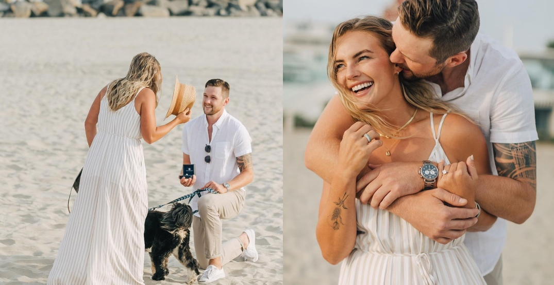 Canucks goalie Thatcher Demko gets engaged on a beach in California (PHOTOS)