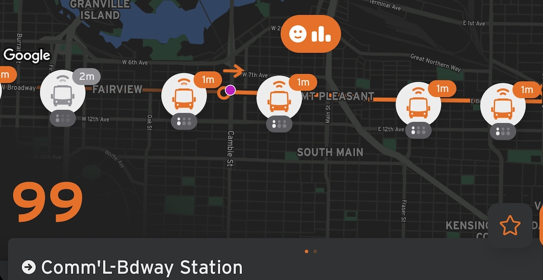 TransLink partners with popular Transit app to show empty bus seat predictions