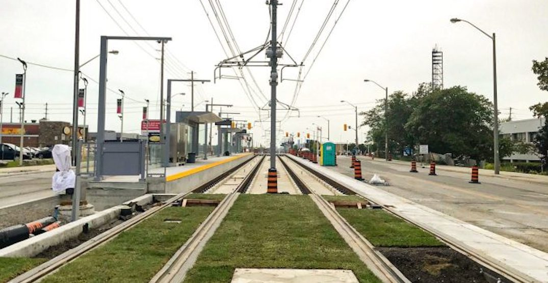 The Eglinton Crosstown LRT is getting green tracks (PHOTOS)