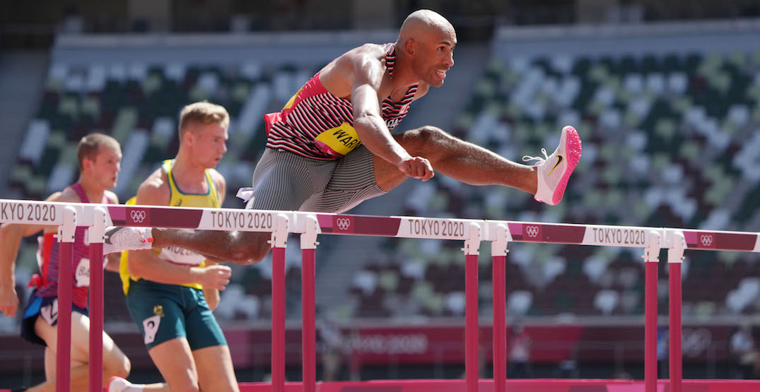 Canada's Damian Warner in gold medal position after Olympic decathlon record time
