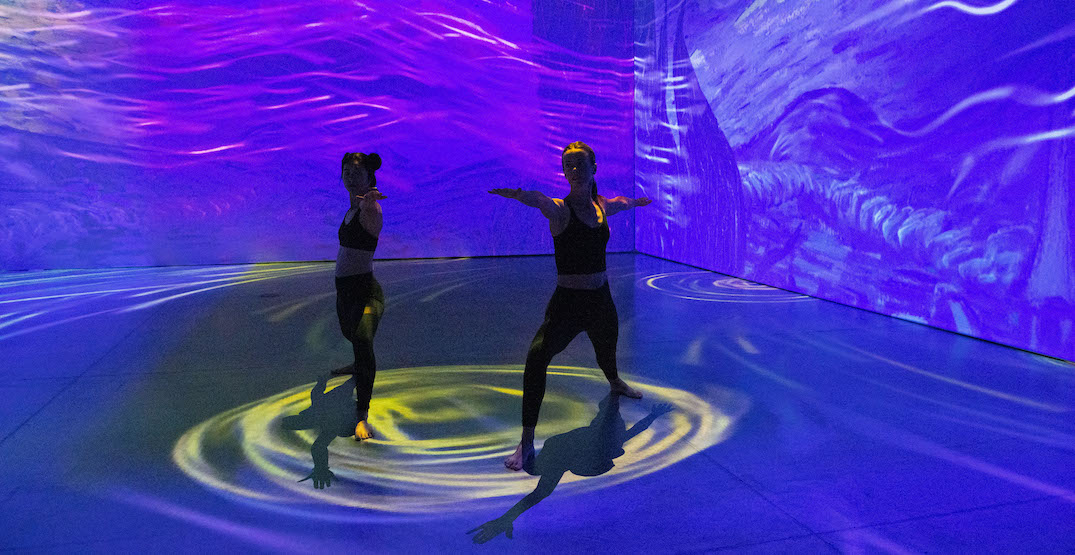 Take a yoga class at the immersive Van Gogh exhibit in Calgary this month