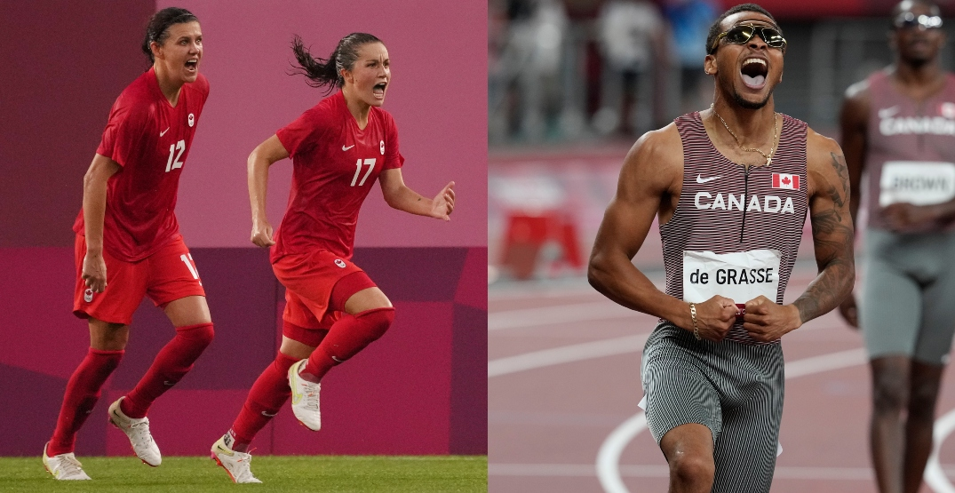 Canada goes for gold in soccer, 4x100m relay at same time tomorrow morning