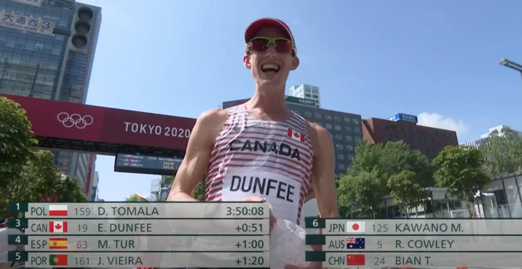 Canada's Evan Dunfee finally gets Olympic glory with late push for bronze