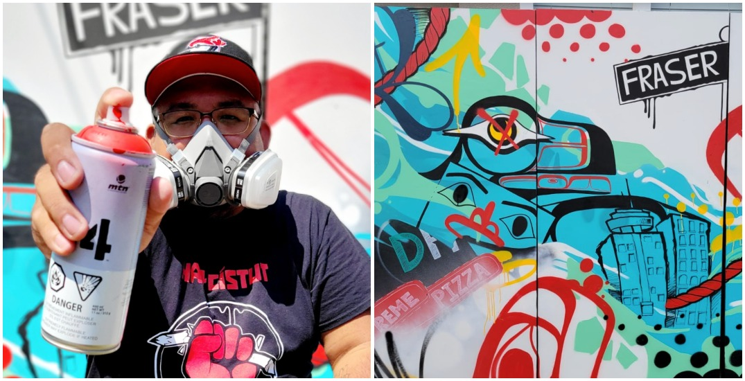 Daily Hive goes back to its roots with mural from Heiltsuk artist KC Hall