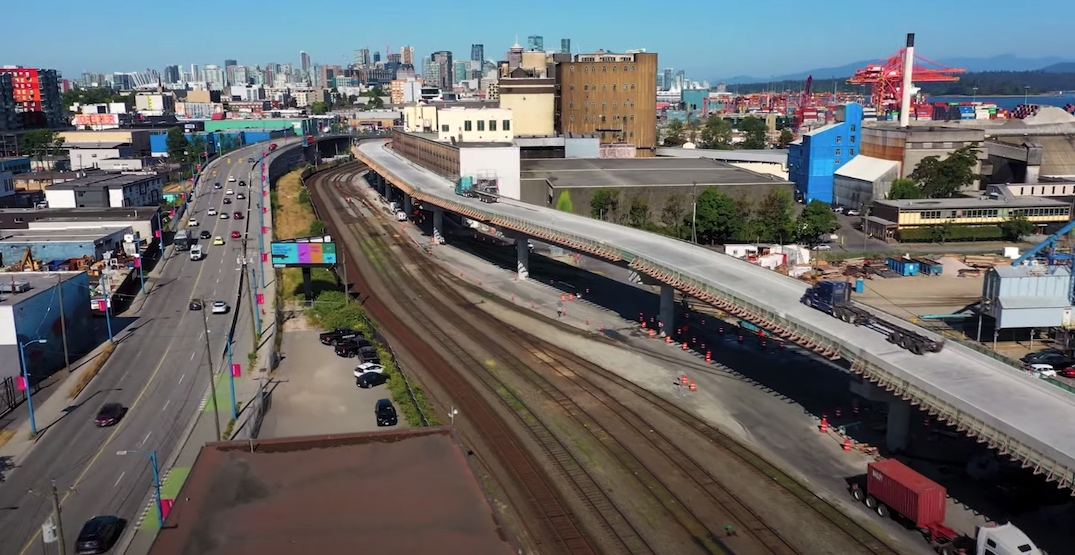 Centennial Road viaduct completed at port terminals in East Vancouver
