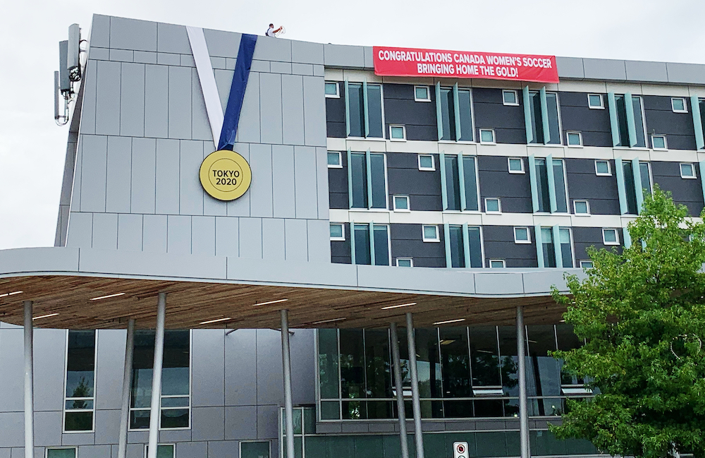 christine sinclair community centre gold medal