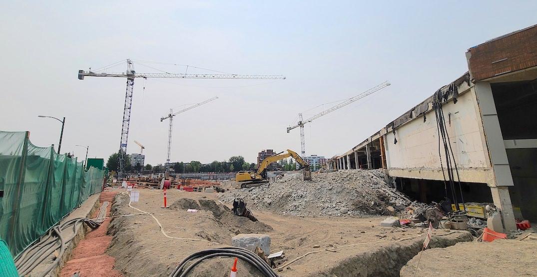 oakridge centre construction august 1 2021