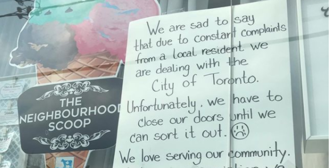 """Toronto ice cream shop forced to close after """"constant complaints"""" from local resident"""