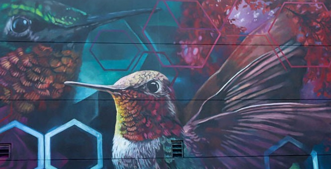 Check out this massive new mural just outside of Edmonton
