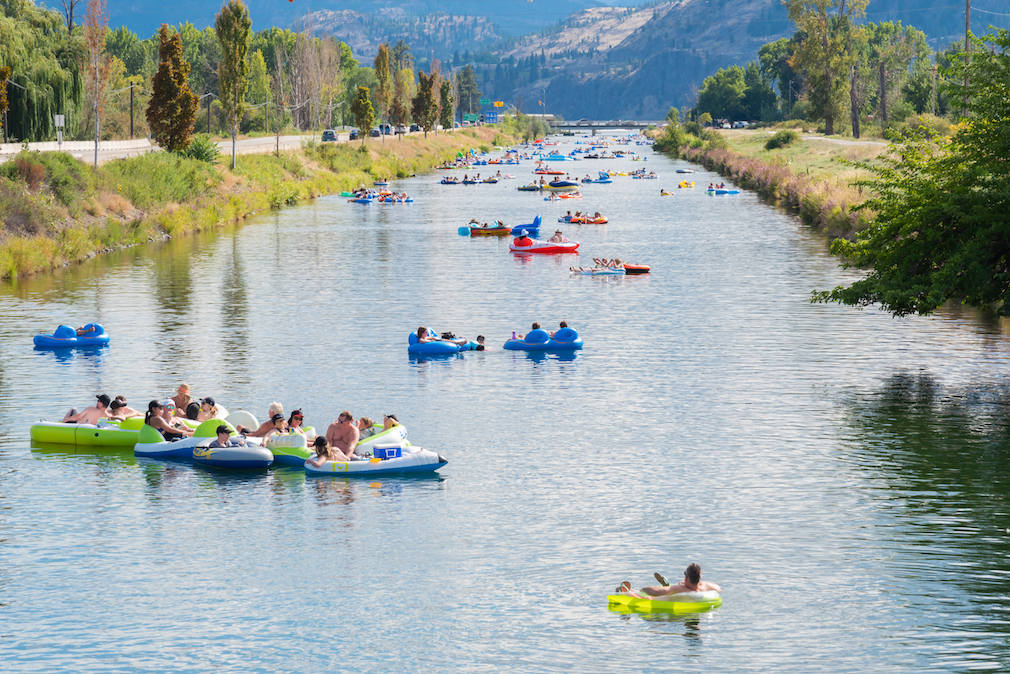 Floating the Penticton River Channel