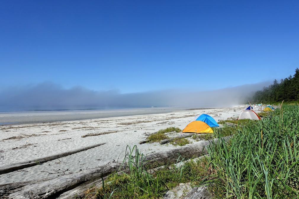 Camping in Cape Scott Provincial Park