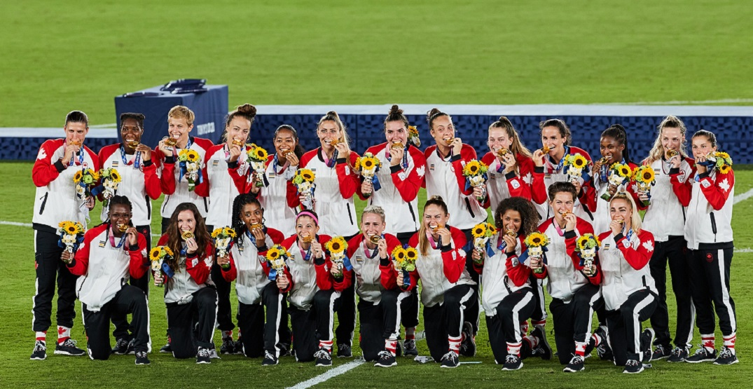 """Olympic soccer gold medallists to play """"celebration tour"""" across Canada"""
