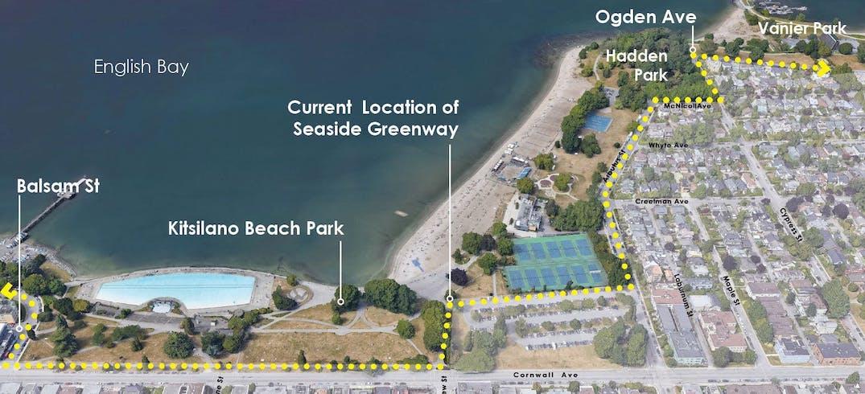 kitsilano beach park seaside greenway