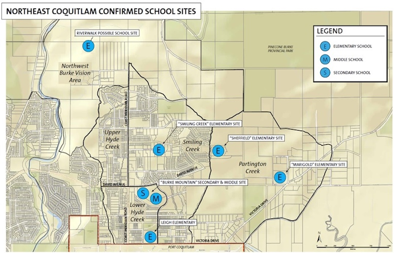 burke mountain coquitlam school locations
