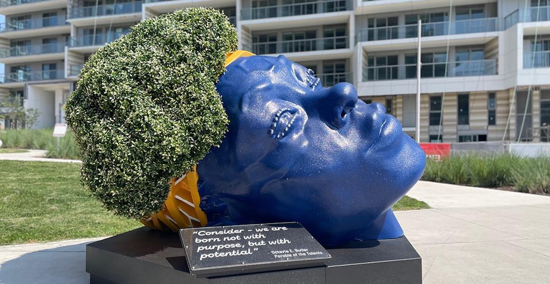 Toronto's latest art installation is a giant blue head (PHOTOS)