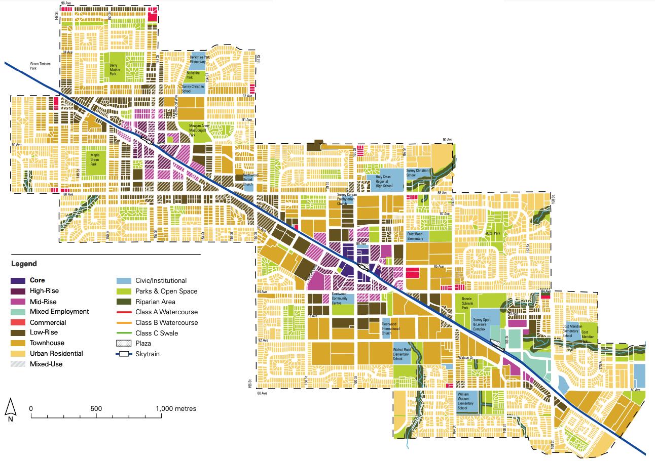 surrey fleetwood plan land use